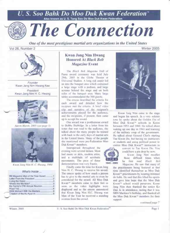 thumbnail of 2005 Winter Usa Moo Duk Kwan Federation Newsletter