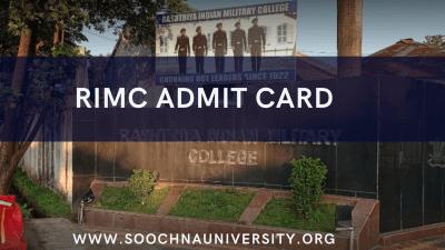 RIMC Admit Card