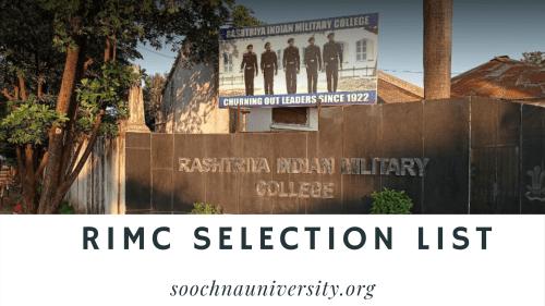RIMC Selection List