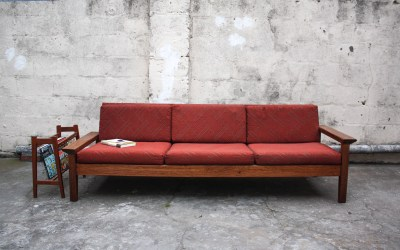 Teak Monastery 3-4 seater couch Mid century. Sold