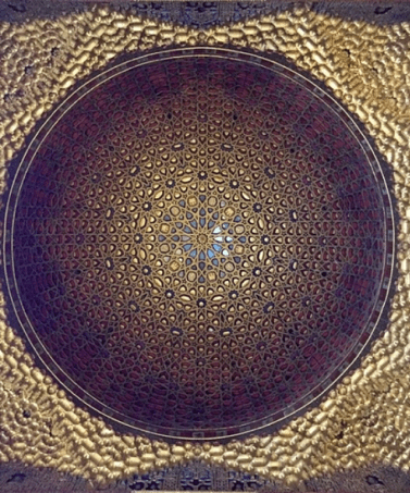 A Moorish Ceiling in The Royal Alcazar of Seville