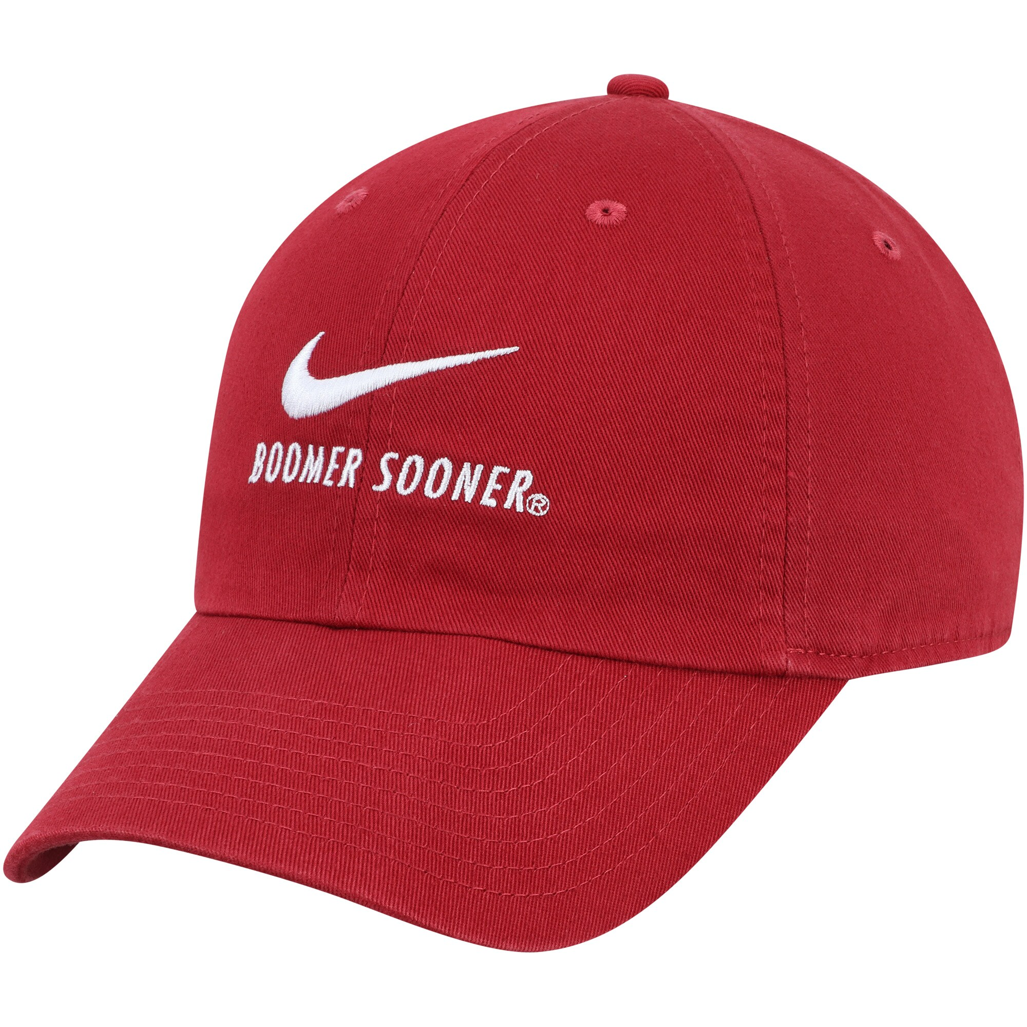 Oklahoma Sooners Nike Big Swoosh Heritage 86 Adjustable Hat - Crimson
