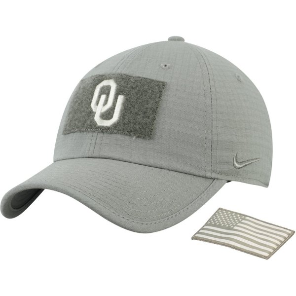 Oklahoma Sooners Nike Tactical Heritage 86 Team Performance Tri-Blend Adjustable Hat - Green