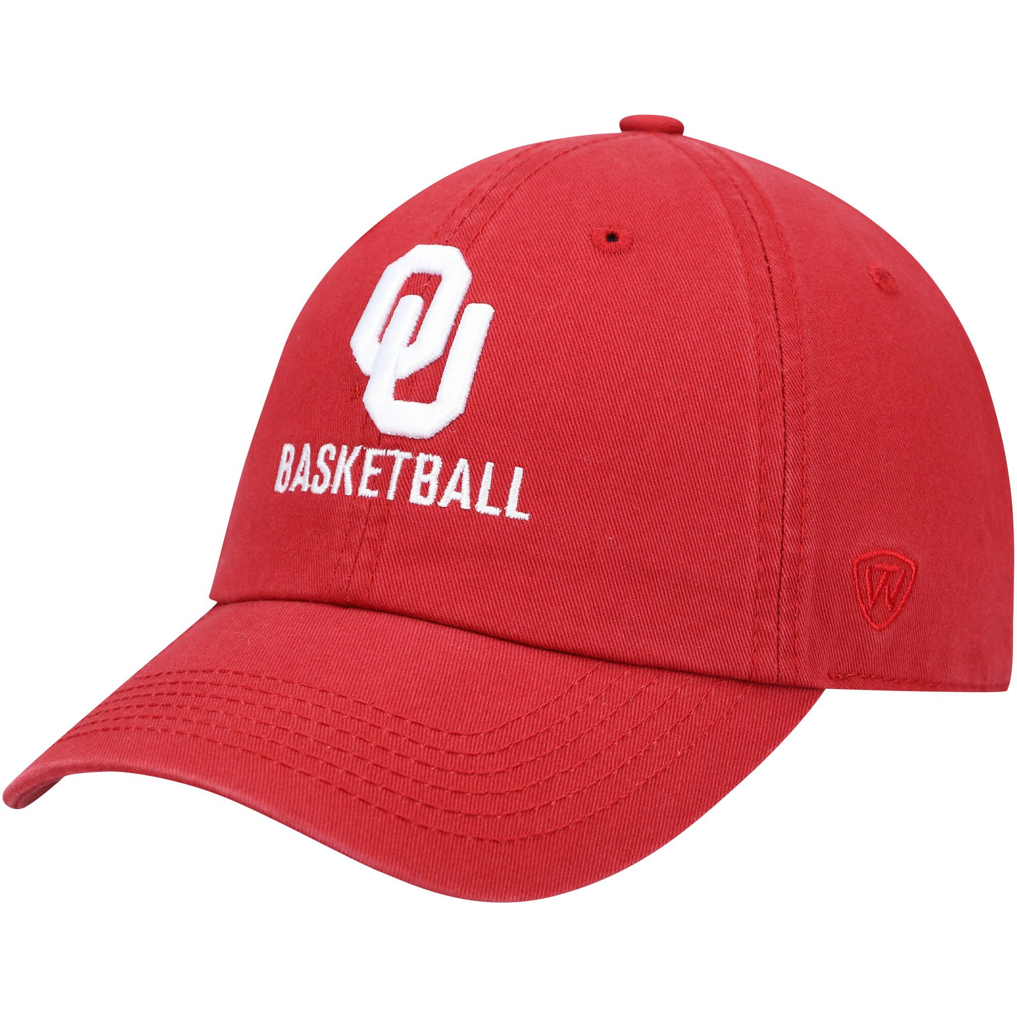 Oklahoma Sooners Top of the World Basketball Crew Adjustable Hat - Crimson