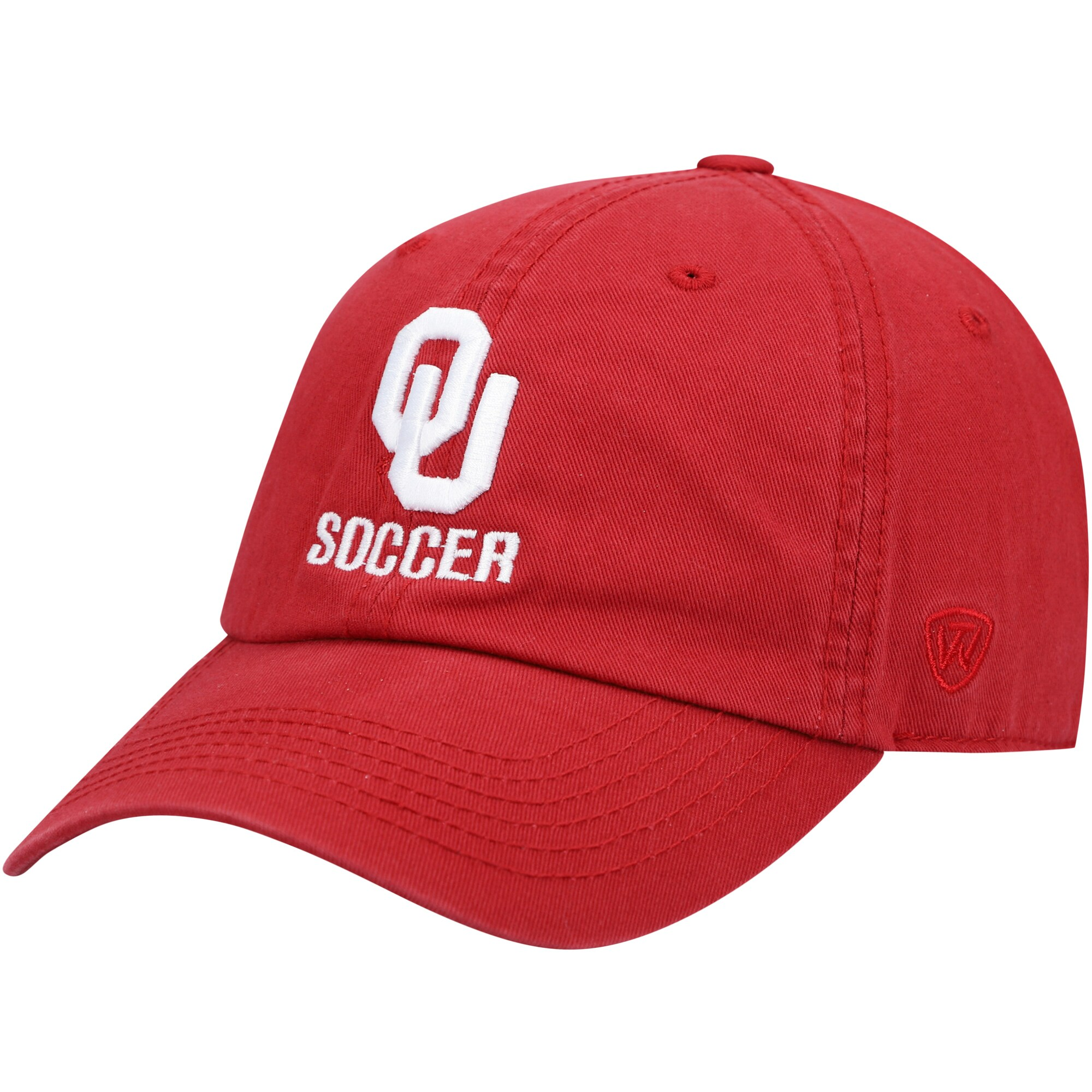 Oklahoma Sooners Top of the World Soccer Crew Adjustable Hat - Crimson