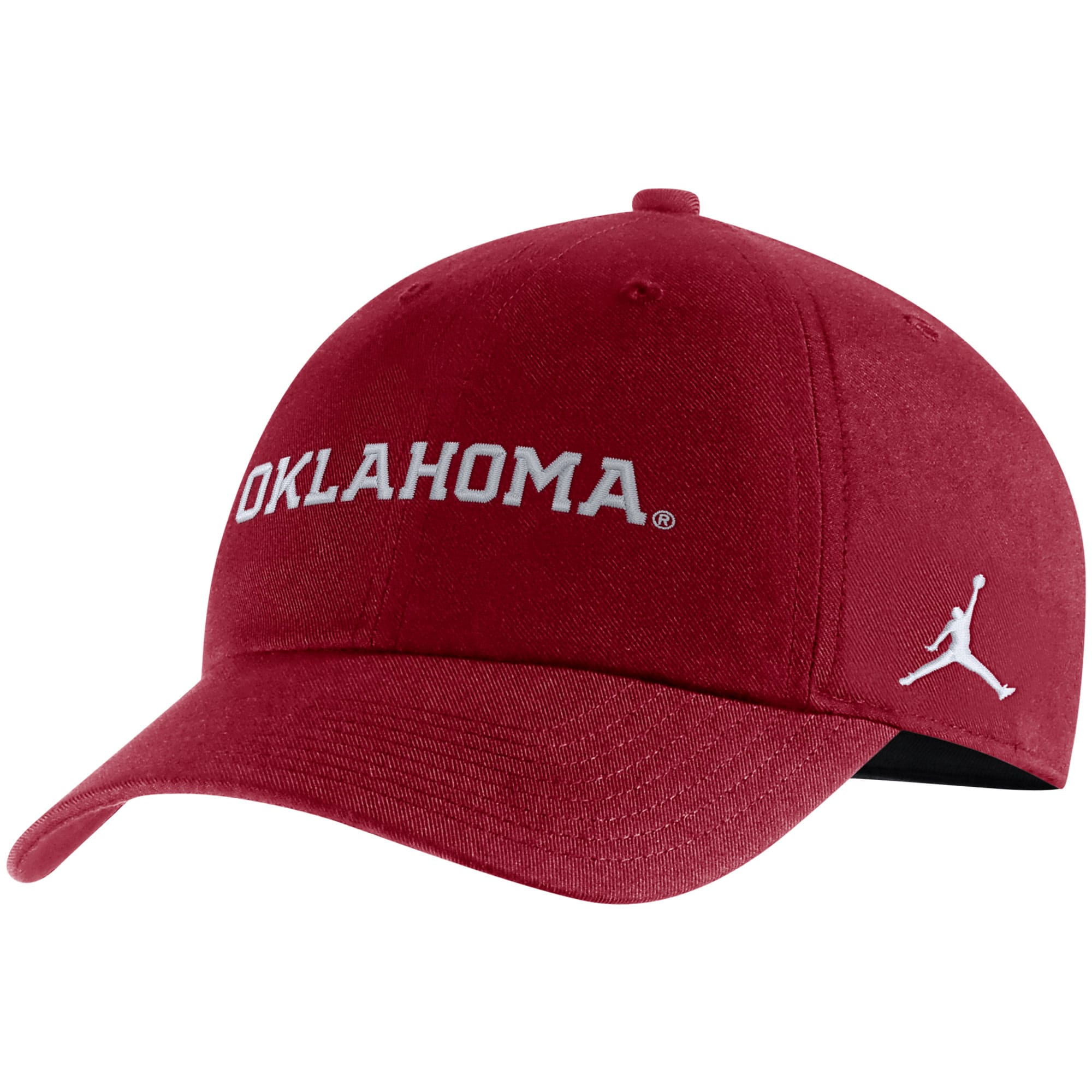 Oklahoma Sooners Jordan Brand Heritage 86 Team Wordmark Adjustable Hat - Crimson