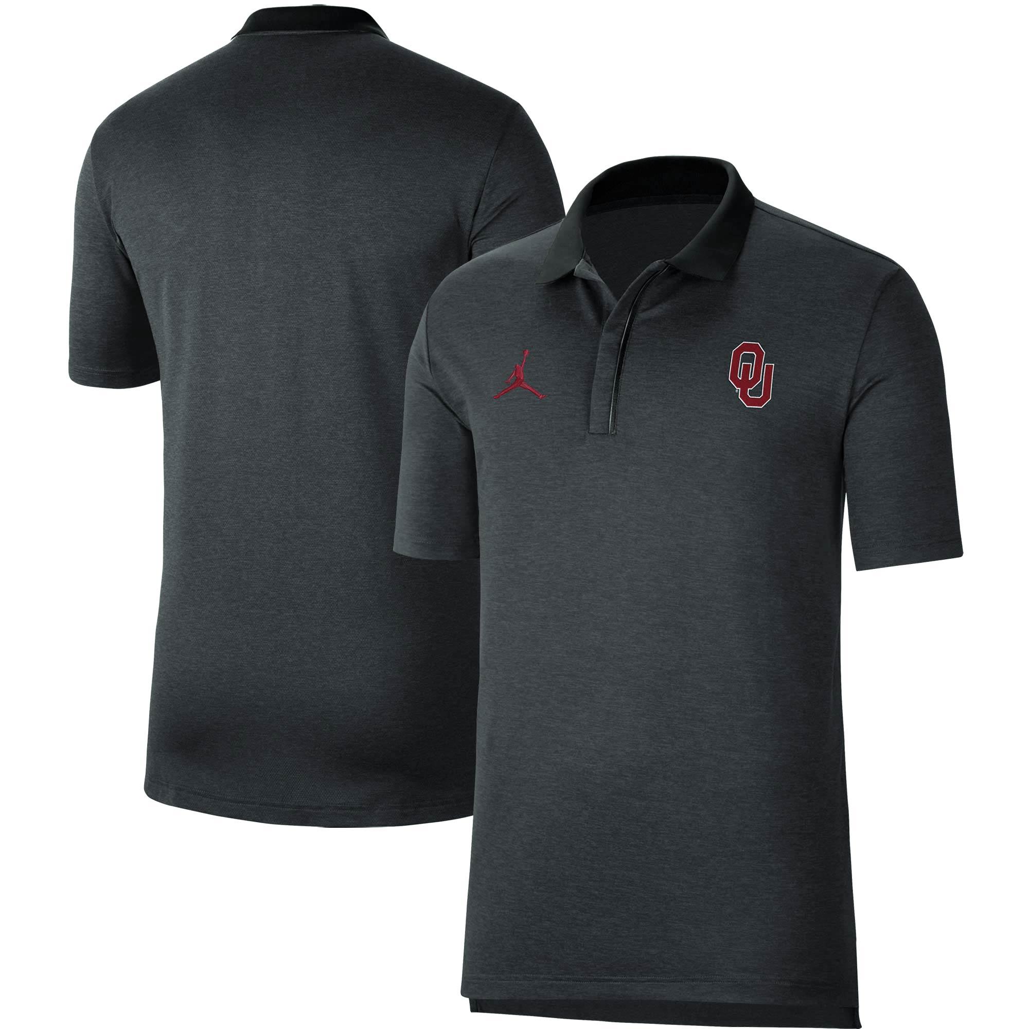 Oklahoma Sooners Jordan Brand Coaches Polo - Heathered Gray