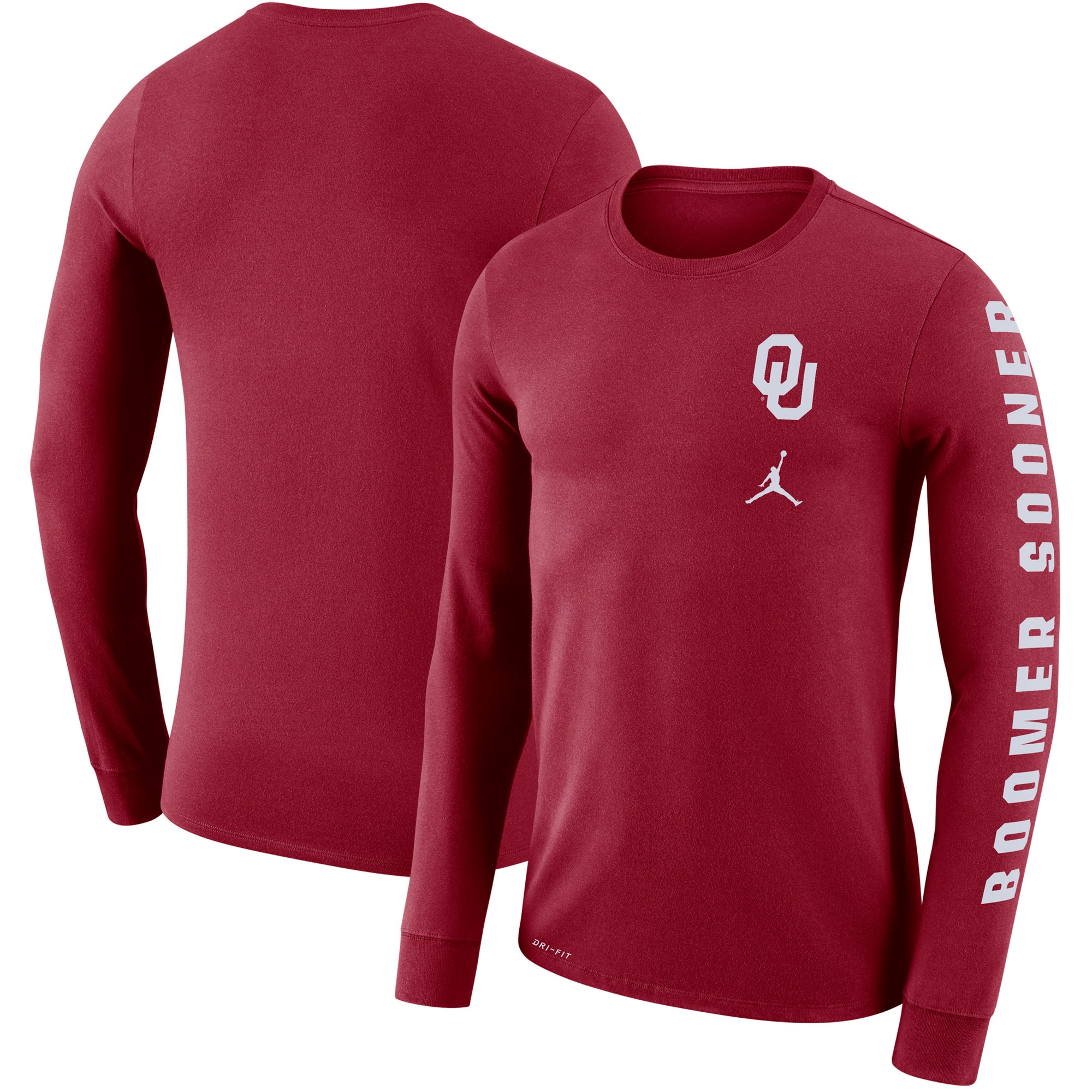 Oklahoma Sooners Jordan Brand Local Mantra Performance Long Sleeve T-Shirt - Crimson