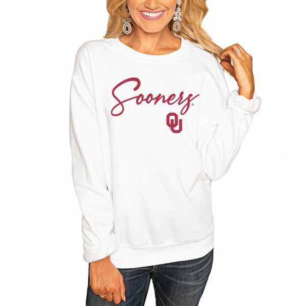 Oklahoma Sooners Women's Win the Day Pullover Sweatshirt - White