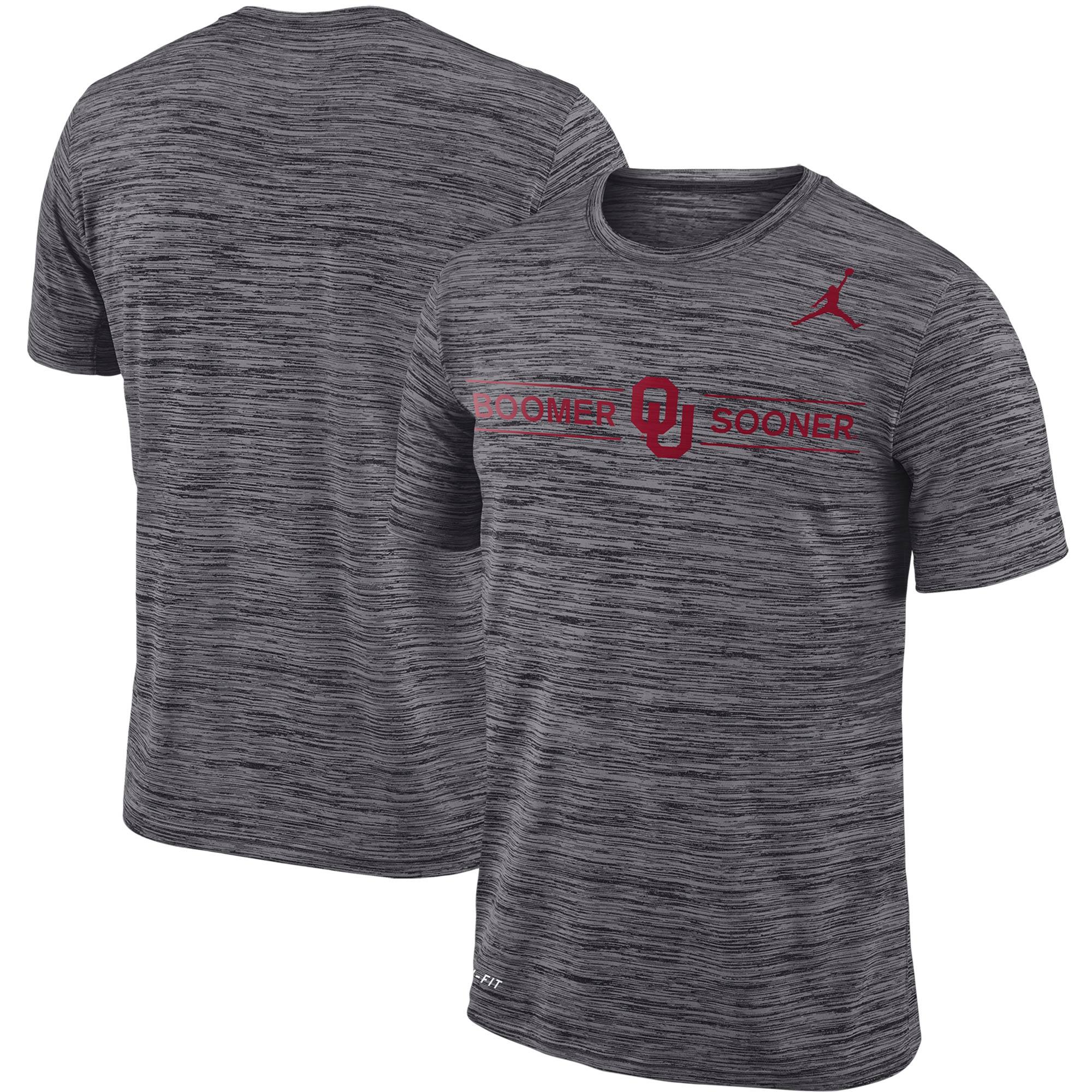 Oklahoma Sooners Jordan Brand Velocity Legend Logo Performance T-Shirt - Gray