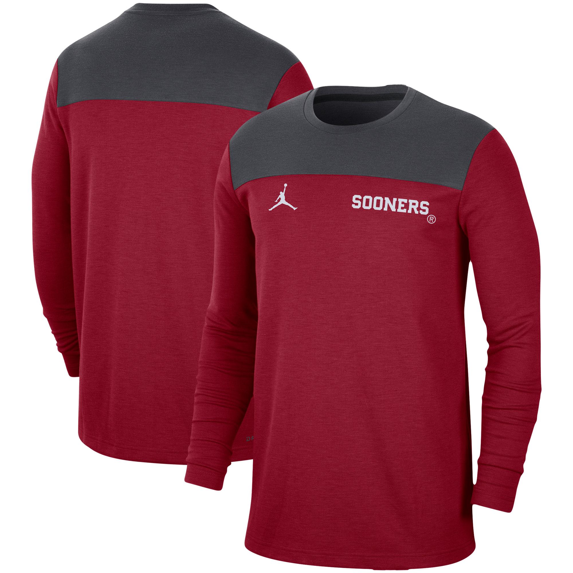 Oklahoma Sooners Jordan Brand Player Performance Long Sleeve T-Shirt - Crimson