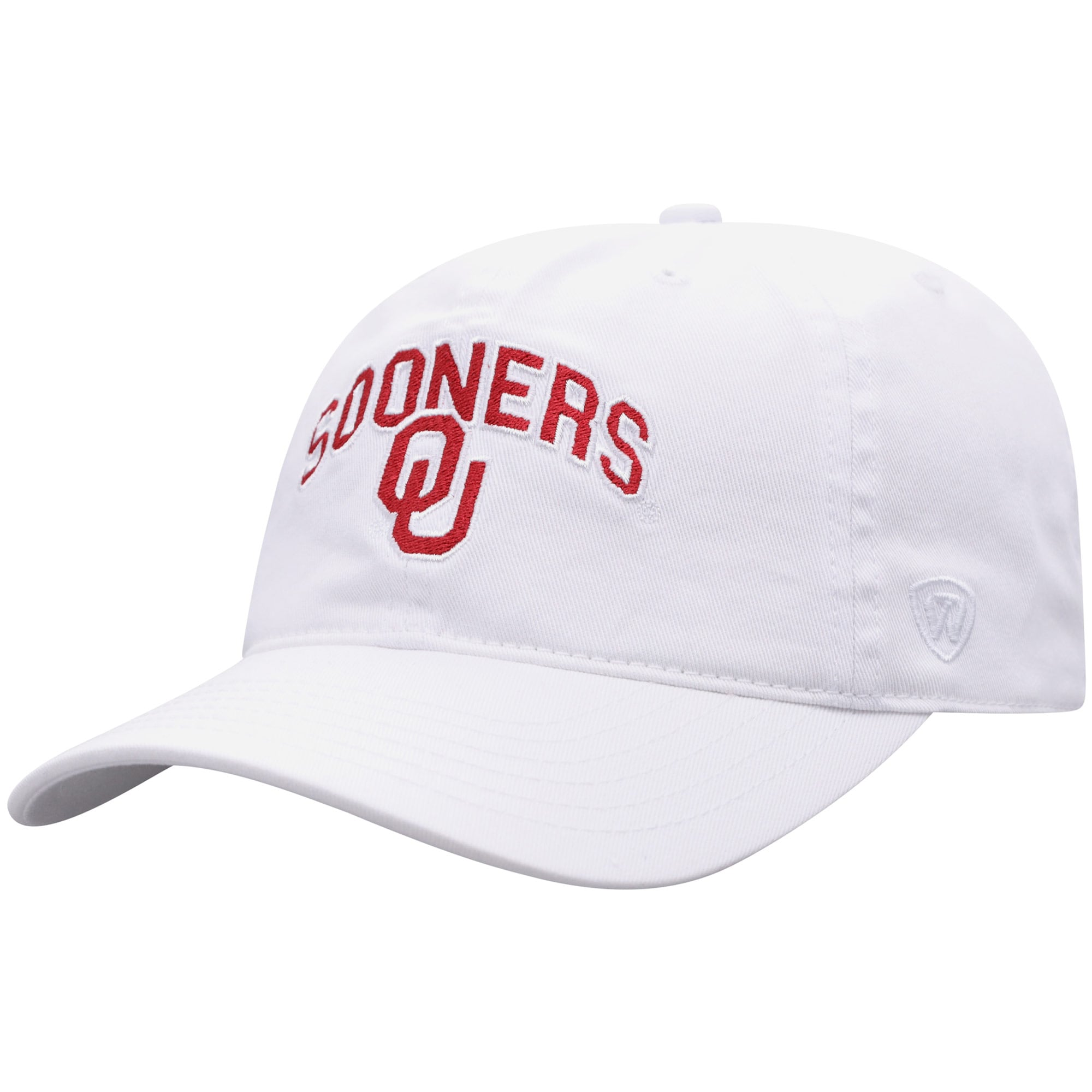 Oklahoma Sooners Top of the World Classic Arch Adjustable Hat - White