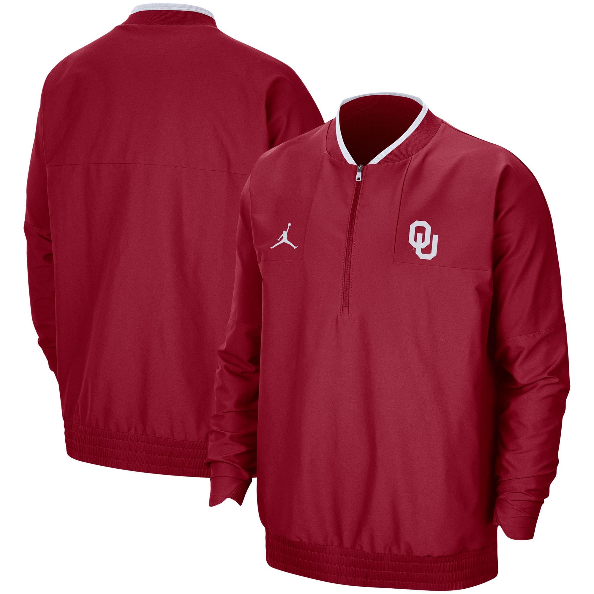 Oklahoma Sooners Jordan Brand 2021 Coach Half-Zip Jacket - Crimson