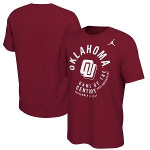 Oklahoma Sooners Jordan Brand Game Of The Century 50th Anniversary T-Shirt - Crimson