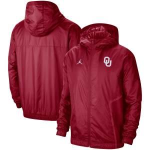 Oklahoma Sooners Jordan Brand Sideline Full-Zip Hoodie - Crimson