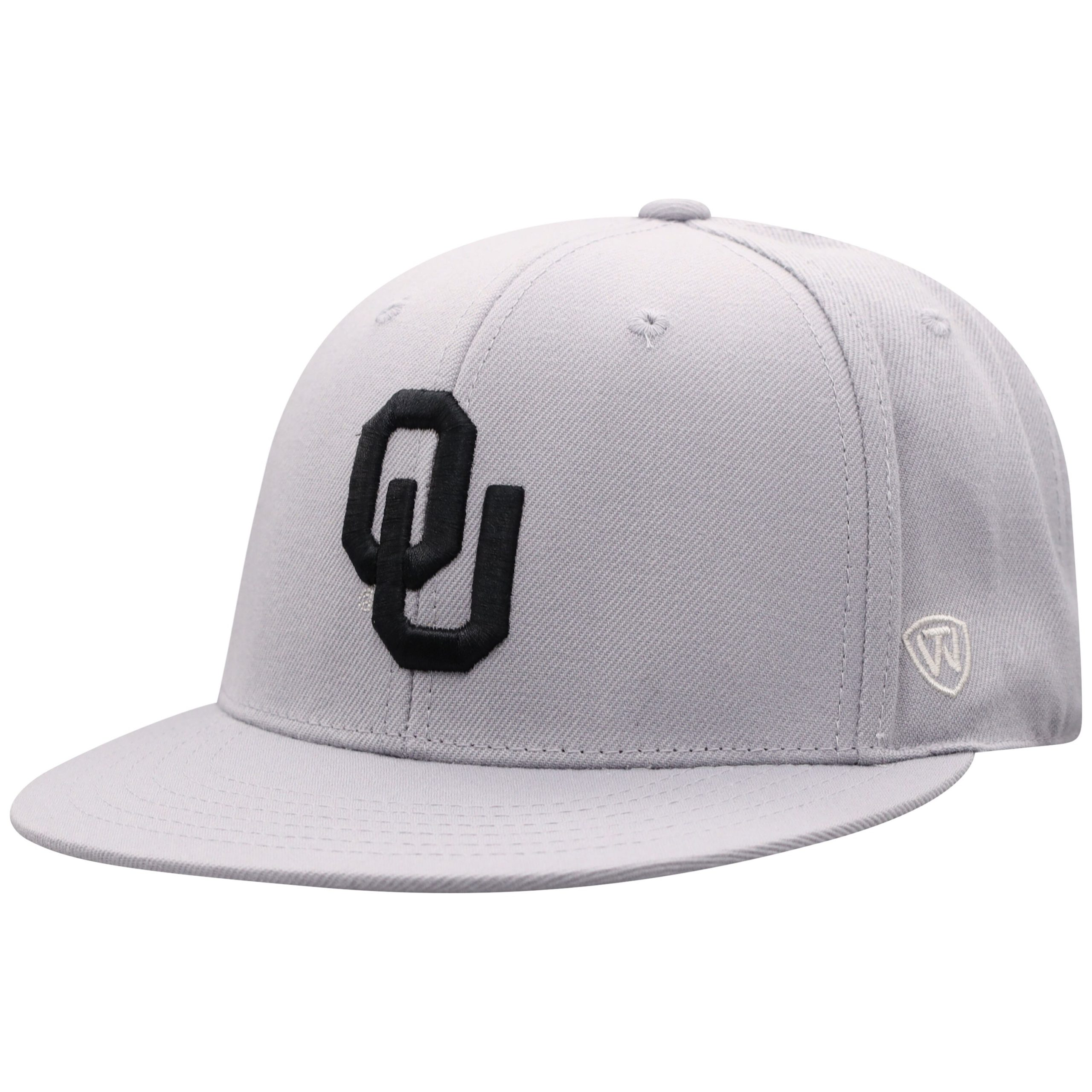 Men's Top of the World Gray Oklahoma Sooners Fitted Hat