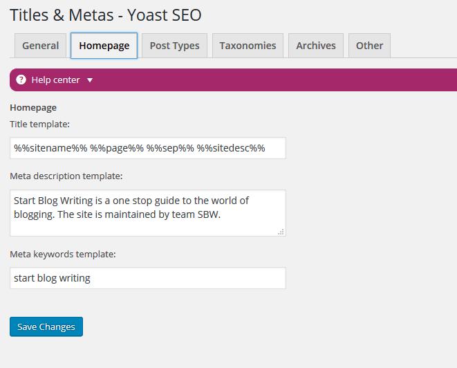 titles and meta