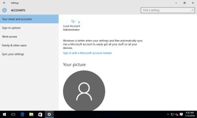 local Windows account