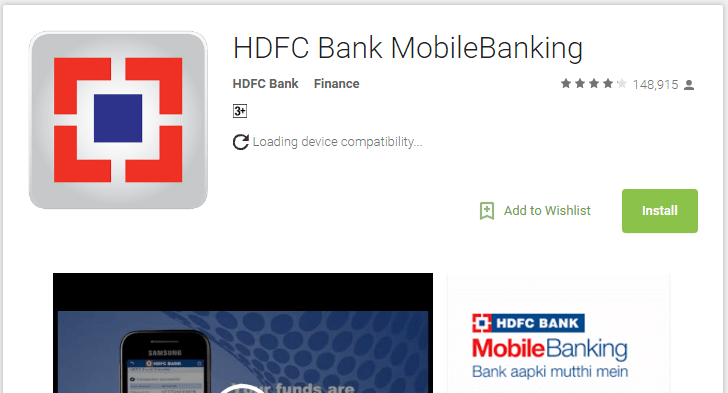 HDFC Bank Mobile banking android app