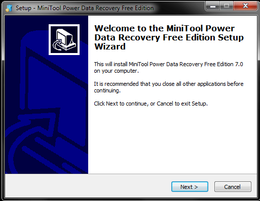 Installation of Power Data Recovery