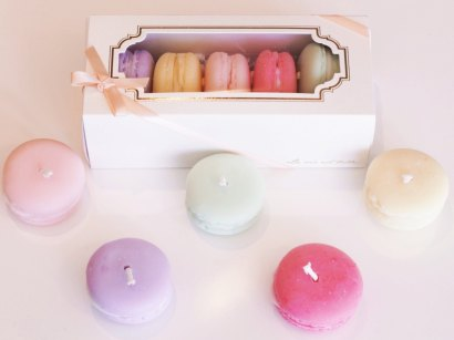 Macaron soy candles by Malee by Nature; image copyright Malee by Nature