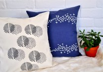 Cushion covers by Salvage Ink; image copyright Shannon Smith, Salvage Ink