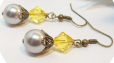 Earrings Gray and Yellow Yellow and Gray by BrightSpotDesigns $15 http://etsy.me/14PE4gU