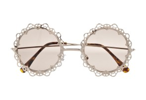 Funky Frames: Embrace a new point of view in super-trendy eyewear. (River Island floral sunglasses - riverisland.com)