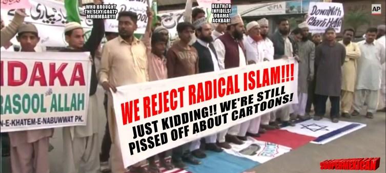 Pakistan protest muslims islam-RADICAL-head