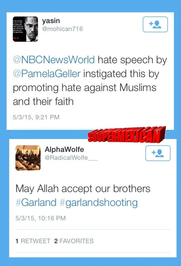 Garland tweets muslims blank big 15