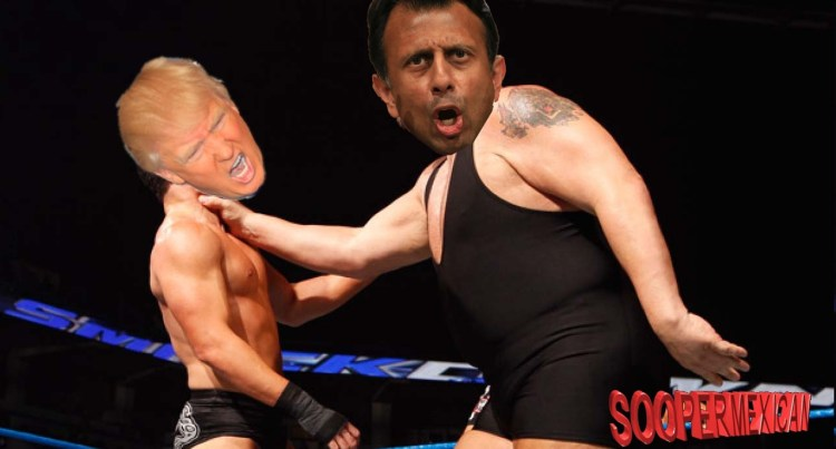 jindal trump wrestling