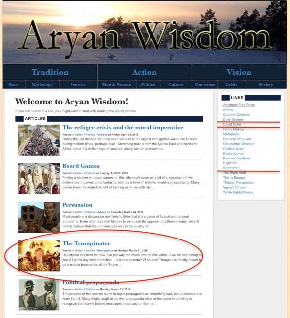 aryan wisdom racism