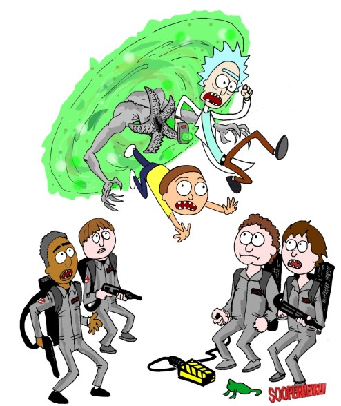 Rick and morty stranger things- color-SMALL
