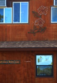 Large Bent Steel Hibiscus Wall Art