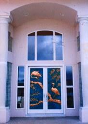Asian Cranes - Elegant double doors