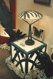 Sacred Hawai'ian Fern Lamp and side table