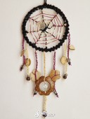 Purple spiderweb dreamcatcher