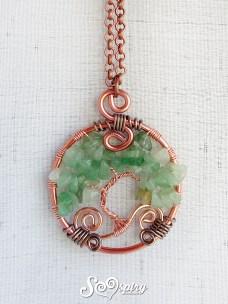 collana wire albero della vita mini in avventurina 1