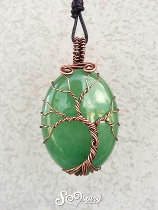 ciondolo-albero-della-vita-rame-anticato-wire-cabochon-tree-of-life-pendant-antique-copper-wire-wrap2