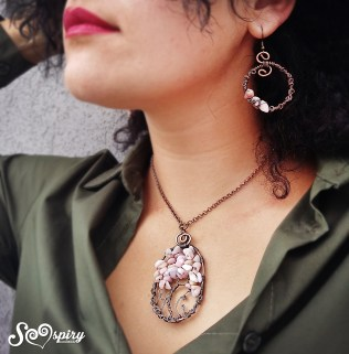 parure-antique-copper-wire-tree-of-life-and-earrings