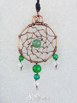 ciondolo-rame-anticaato-wire-acchiappasogni-con-agata-antique-copper-wire-pendant-dreamcatcher-with-agate-beads-3