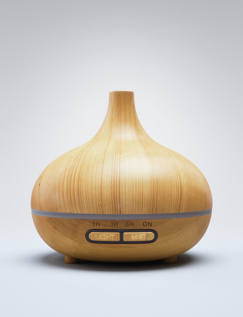Bamboo Aroma Diffuser Teardrop 300ml Soothing Scents