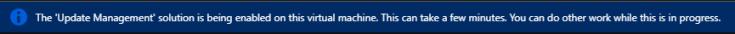 update Management Message
