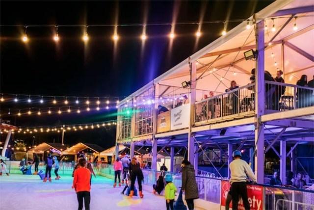 Ice Skating Elizabeth Quay