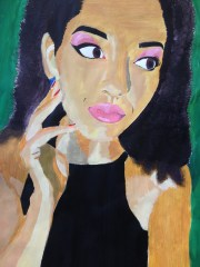 acrylic paint on paper