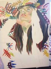 uncompleted; oil paint on canvas