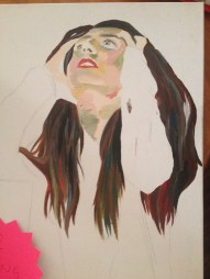 unfinished; oil paint on canvas