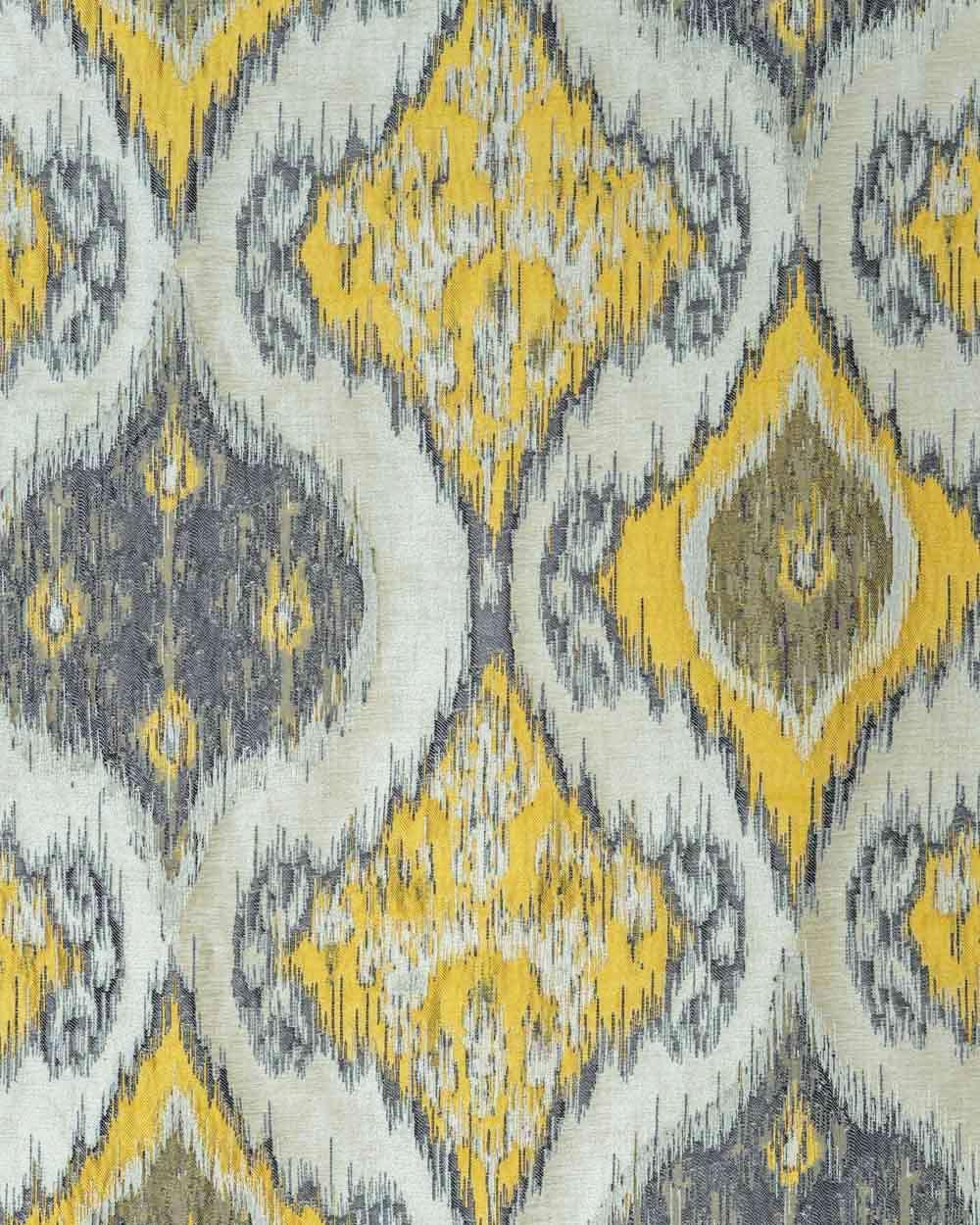 curtain fabric mae white yellow
