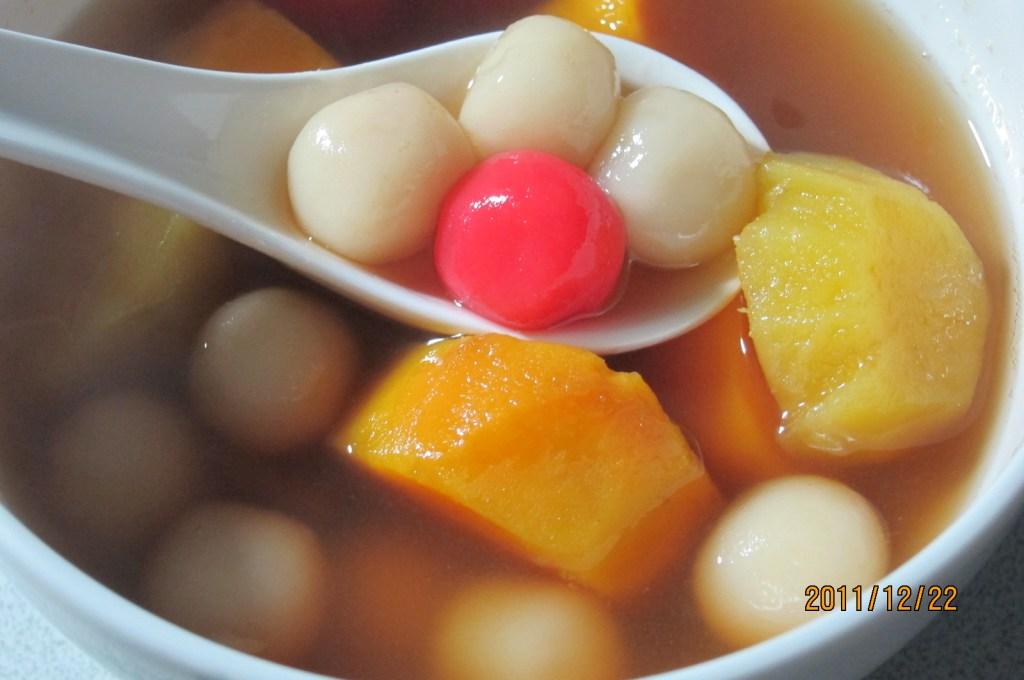 冬至。下午茶~~暖暖身子。。。甜湯圓   三千葉家