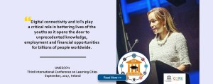 UNESCO's Third International Conference on Learning Cities, Ireland,